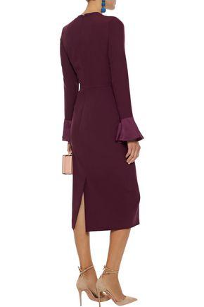 ROKSANDA Izumi satin-trimmed cady dress