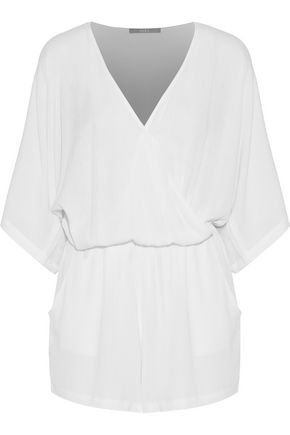 TART COLLECTIONS Bri wrap-effect gauze playsuit