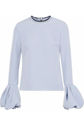 ROKSANDA Arlo fluted crepe top