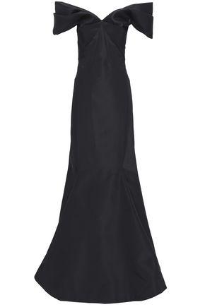 ZAC POSEN Off-the-shoulder silk-organza gown