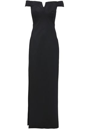 ZAC POSEN Off-the-shoulder ponte maxi dress