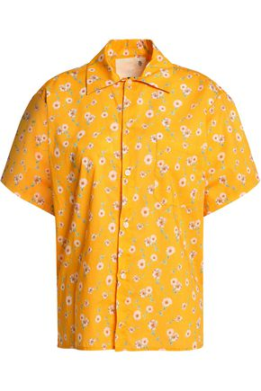 R13 Floral-print cotton-poplin shirt
