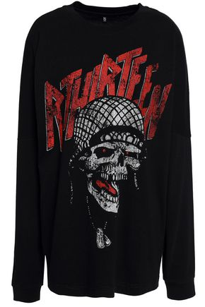 R13 Printed cotton-jersey sweatshirt