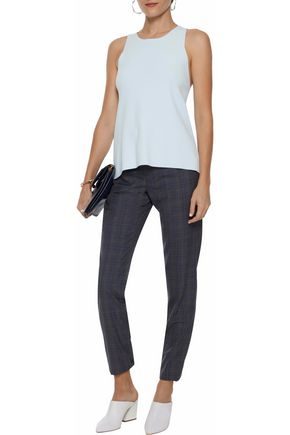 AUTUMN CASHMERE Fluted stretch-knit tank