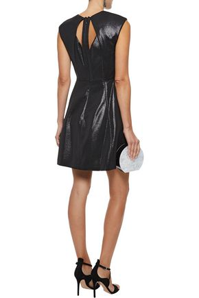 cf5cec056651 Cutout metallic ponte mini dress | HALSTON HERITAGE | Sale up to 70 ...
