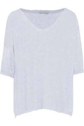 COTTON by AUTUMN CASHMERE Distressed slub cotton-jersey T-shirt