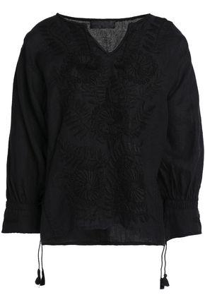 NILI LOTAN Embroidered linen top