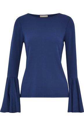 MICHAEL KORS COLLECTION Fluted stretch-jersey top
