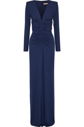 MICHAEL KORS COLLECTION Ruched stretch-jersey gown