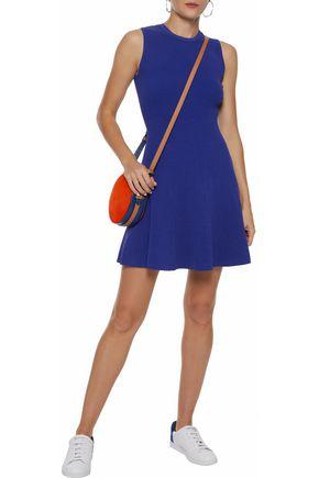 AUTUMN CASHMERE Fluted ribbed-knit mini dress