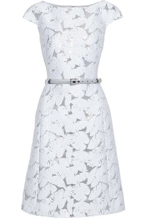 MICHAEL KORS COLLECTION Belted brocade dress