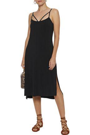 TART COLLECTIONS Morena cutout stretch-modal midi slip dress