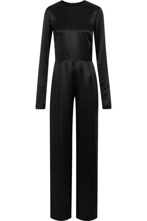 MICHAEL LO SORDO Silk-satin jumpsuit