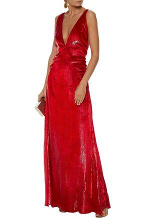 MICHAEL LO SORDO Alexandra metallic velvet gown