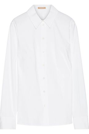 MICHAEL KORS COLLECTION Stretch-cotton poplin shirt