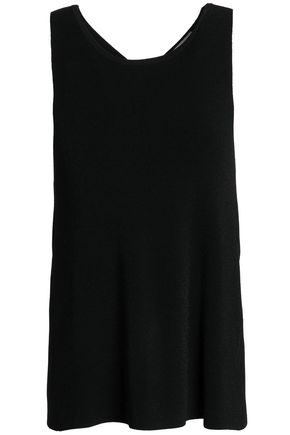 AUTUMN CASHMERE Wrap-effect stretch-knit top