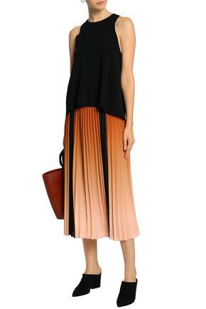 cf57b00533371c AUTUMN CASHMERE Wrap-effect stretch-knit top