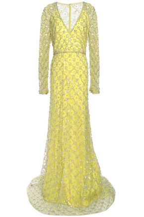 JENNY PACKHAM Embroidered tulle gown