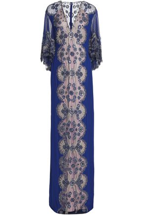 JENNY PACKHAM Embroidered silk-tulle gown