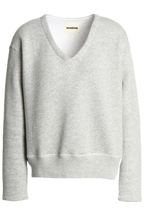 MONROW French cotton-blend terry sweatshirt