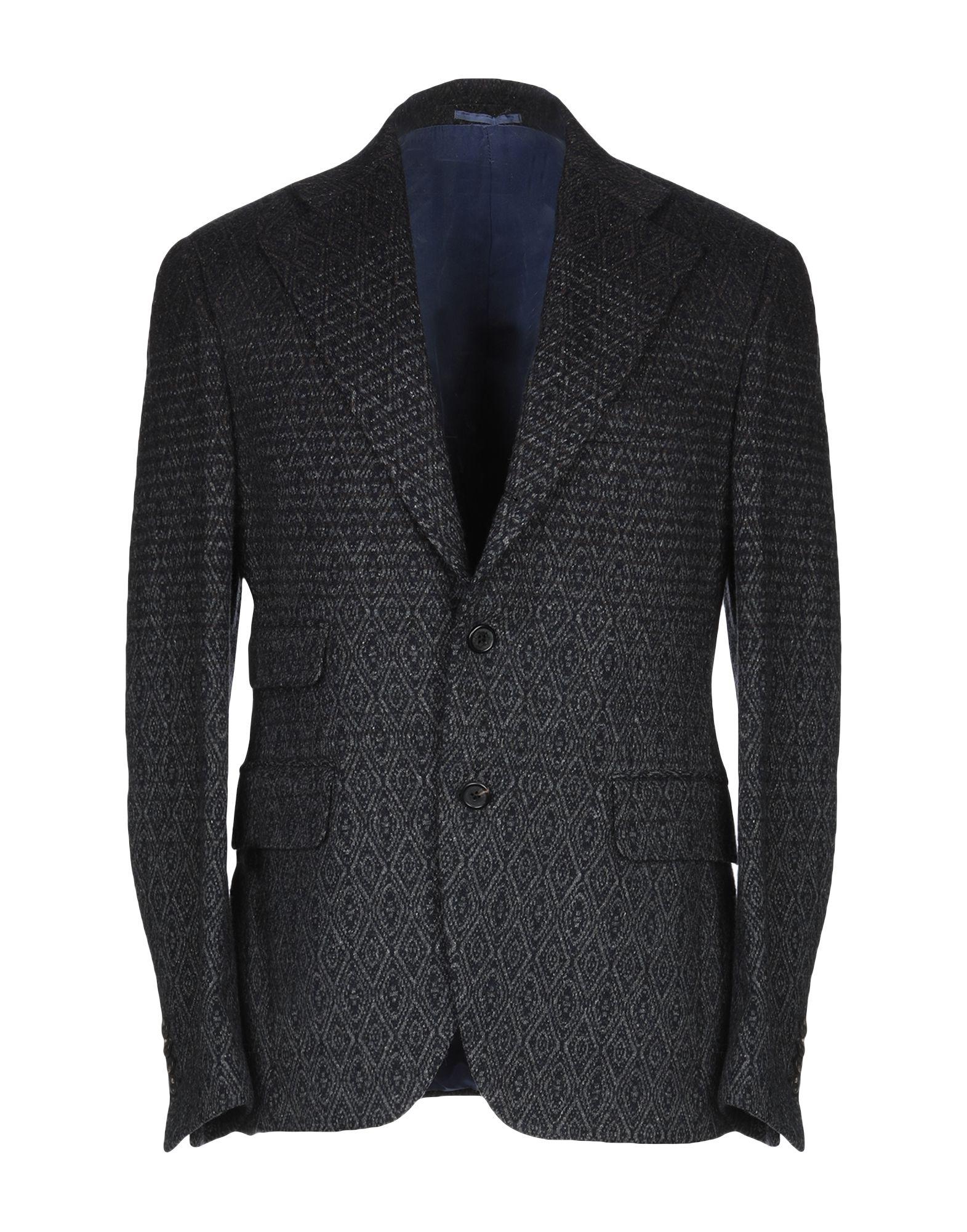 《期間限定セール中》GABRIELE PASINI メンズ テーラードジャケット ダークブルー 50 ウール 79% / ナイロン 12% / シルク 9%