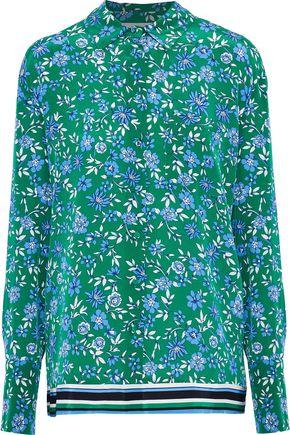 NICHOLAS Floral-print silk blouse