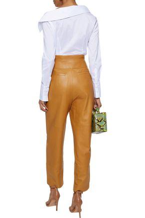 NICHOLAS Asymmetric cotton-blend poplin shirt