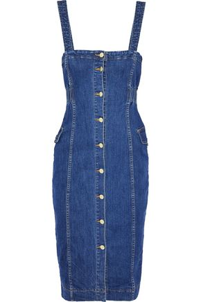NICHOLAS Button-detailed denim dress