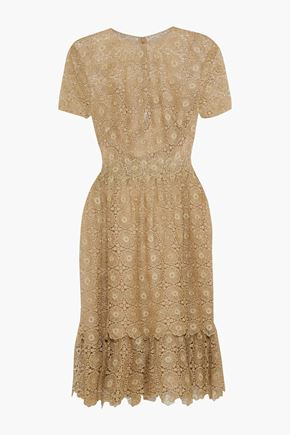 MIKAEL AGHAL Metallic crocheted dress