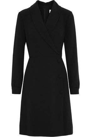 MIKAEL AGHAL Wrap-effect crepe dress
