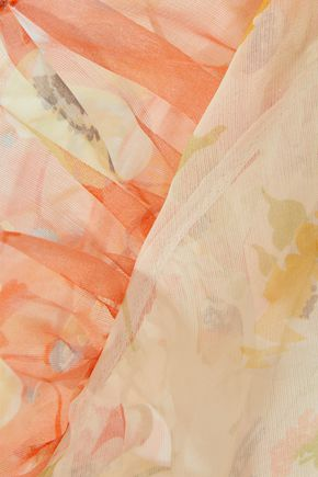 CHRISTOPHER KANE Ruffle-trimmed floral-print silk-chiffon shirt