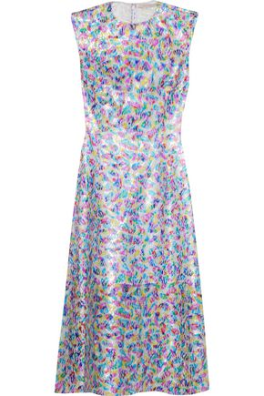 CHRISTOPHER KANE Metallic lace midi dress
