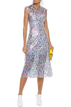 CHRISTOPHER KANE Metallic lace midi dress