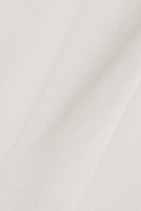 HALSTON HERITAGE Split-front cutout crepe gown