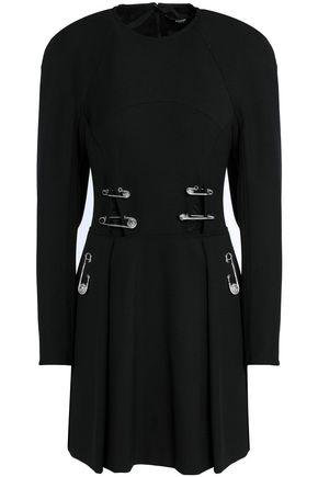VERSUS VERSACE Embellished cutout crepe mini dress
