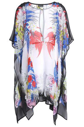 JUST CAVALLI Draped printed georgette blouse