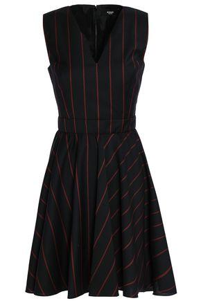VERSUS VERSACE Fluted striped wool mini dress