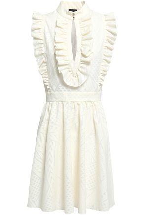 JUST CAVALLI Ruffled jacquard-knit mini dress