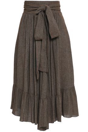 SEE BY CHLOÉ Tie-front woven culottes