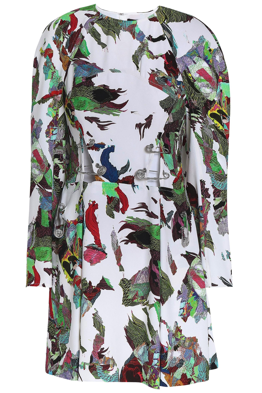 ヴァーサス Woman 装飾付き プリント クレープ ミニワンピース White Size 36