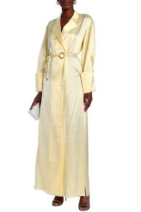 MICHAEL LO SORDO Silk-satin maxi wrap dress