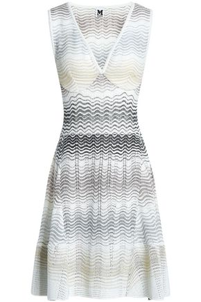 M MISSONI Crocheted cotton-blend mini dress