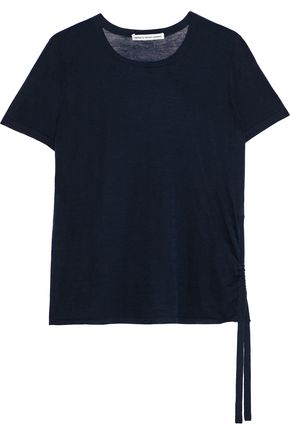 COTTON by AUTUMN CASHMERE Ruched slub cotton-jersey T-shirt