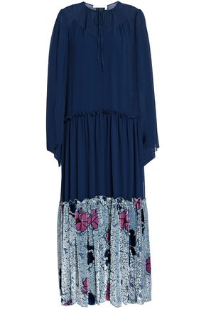 SEE BY CHLOÉ Paneled devoré-georgette maxi dress