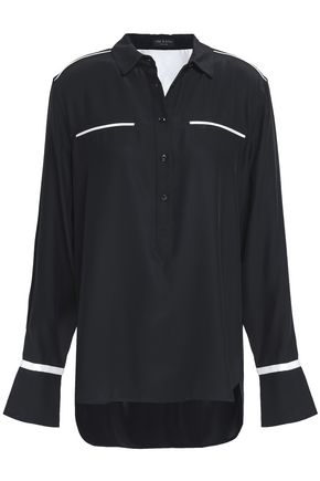 RAG & BONE Satin-crepe shirt