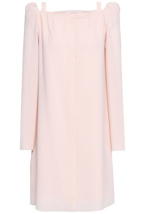 SEE BY CHLOÉ Cutout crinkled woven mini dress