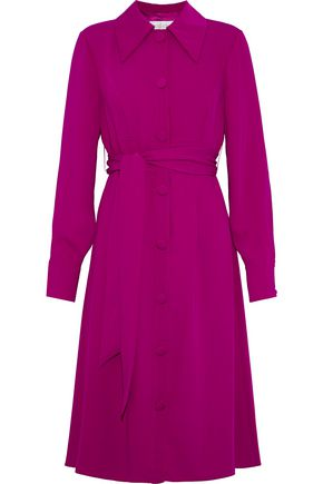 MIKAEL AGHAL Belted crepe dress