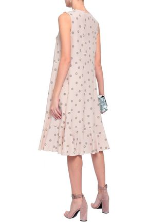 SEE BY CHLOÉ Ruffled printed crepe midi dress