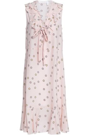 SEE BY CHLOÉ Ruffled printed crepe midi dress