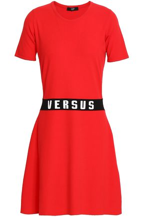 VERSUS VERSACE Intarsia-knit mini dress